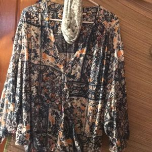 ANTHROPOLOGIE/ Maeve/pull over top/ paisley/xl/euc